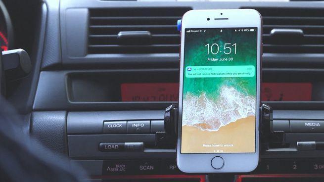 iOS 11 auto non disturbare alla guida
