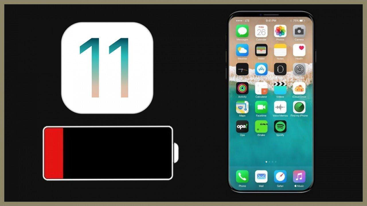 iOS 11 durata batteria iPhone iPad