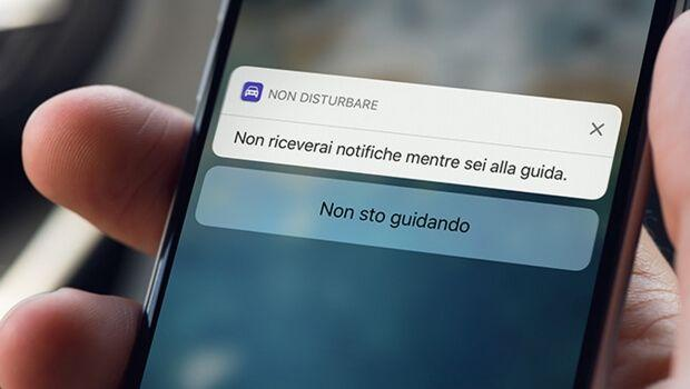 iOS 11 non disturbare alla guida