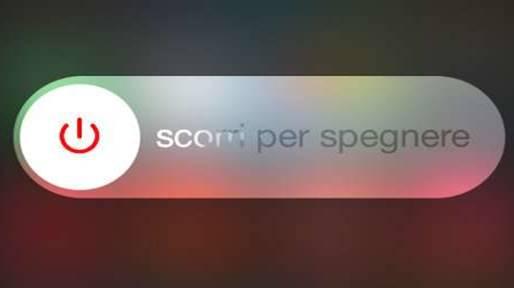 iPhone X come si spegne scorri per spegnere