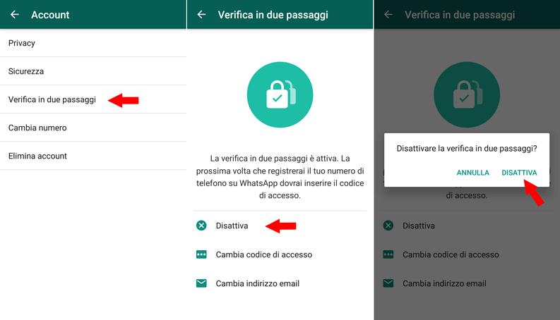 Come attivare e disattivare la verifica in due passaggi su WhatsApp