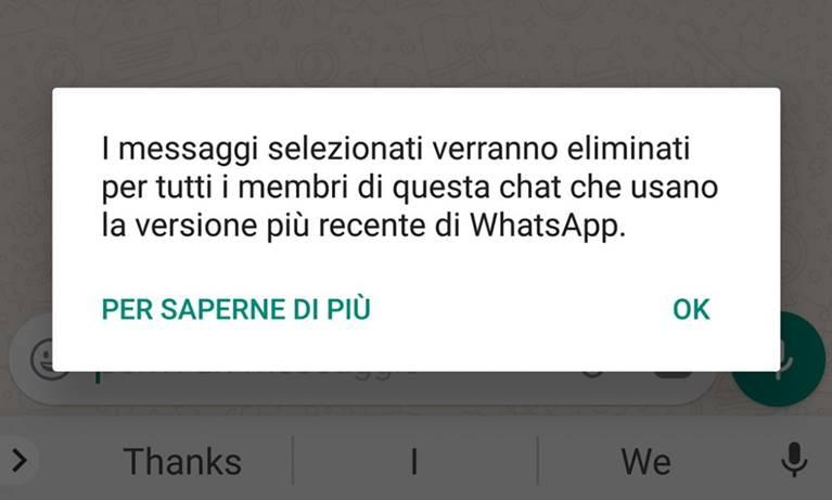 Come visualizzare messaggio eliminato su WhatsApp Android