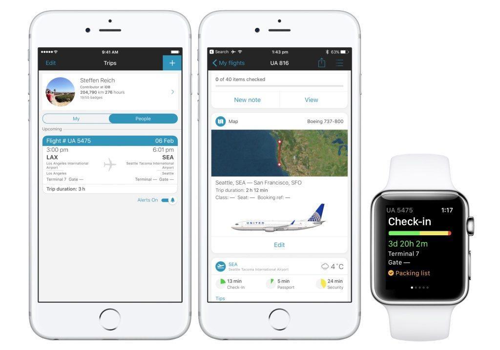 Seguire la posizione di un volo aereo con iPhone X