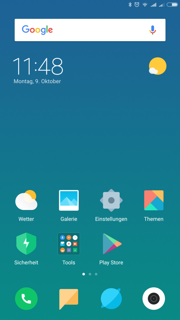 xiaomi mi note 3 home android