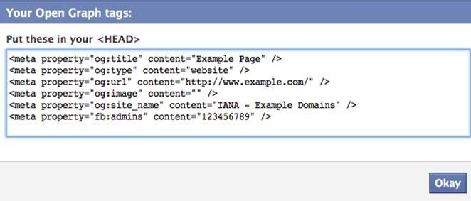 Facebook cache Open Graph