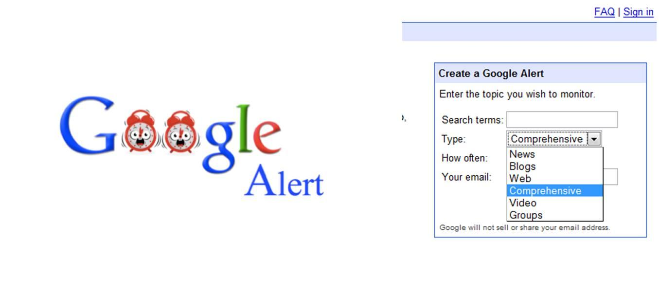 Google Alert avvisi