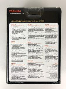 Hard Disk Toshiba X300 da 5 TB retro confezione
