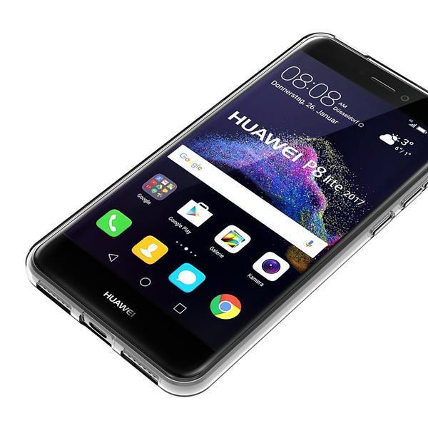 Cover per Huawei P8 Lite 2017: AICEK custodia in silicone trasparente