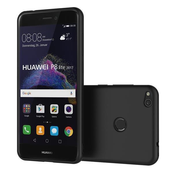 Cover per Huawei P8 Lite 2017: Custodia AICEK in silicone nero TPU