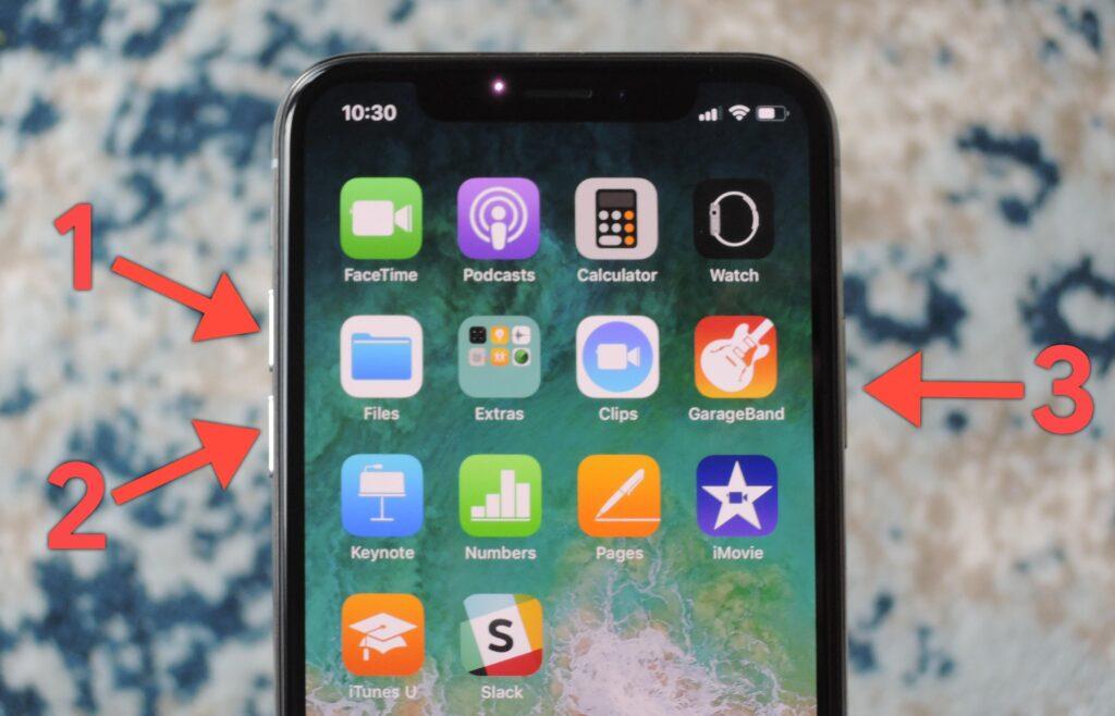 forzare riavvio iphone x bloccato
