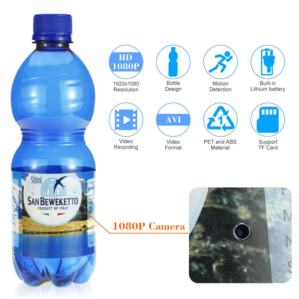 san beweketto spy cam bottiglia d'acqua - caratteristiche