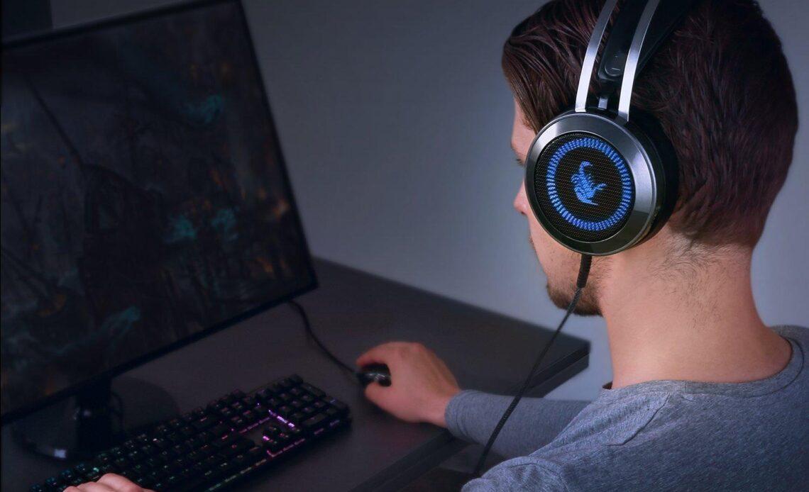 AUKEY GH-S3 cuffie da gaming per PC-in uso per gaming su pc