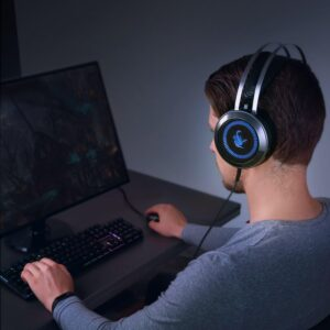 AUKEY GH-S3 cuffie da gaming per PC-in uso per gaming su pc