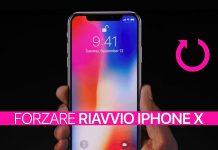 Forzare riavvio iPhone X