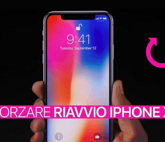 Forzare riavvio iPhone X