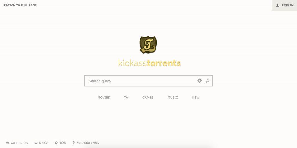 KickAssTorrents tra i migliori siti torrent del 2018