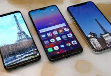 Apple iPhone X vs Samsung Galaxy S9 Plus vs Huawei P20 Pro