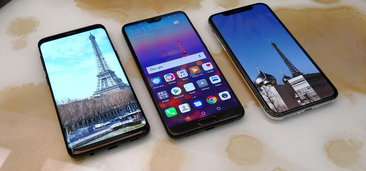 apple iphone x vs galaxy s9 plus vs huawei p20 pro il