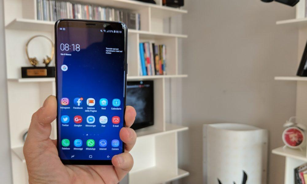 Samsung Galaxy S9 alla TV