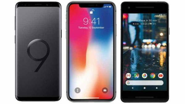 Confronto Apple iPhone X vs Samsung Galaxy S9 Plus vs Huawei P20 Pro
