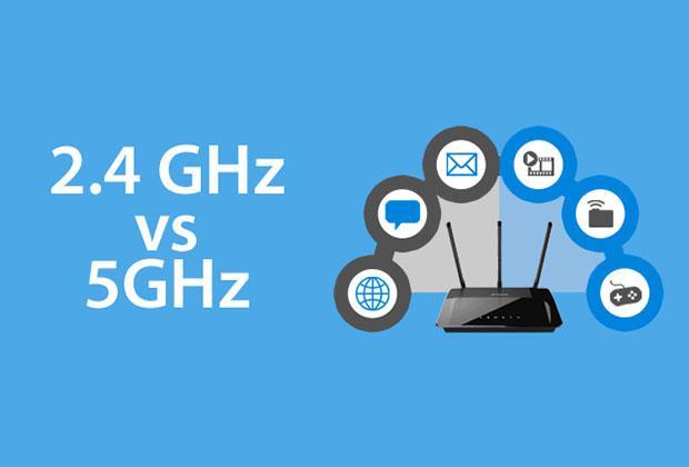modem e router 2,4 GHz e 5 GHz