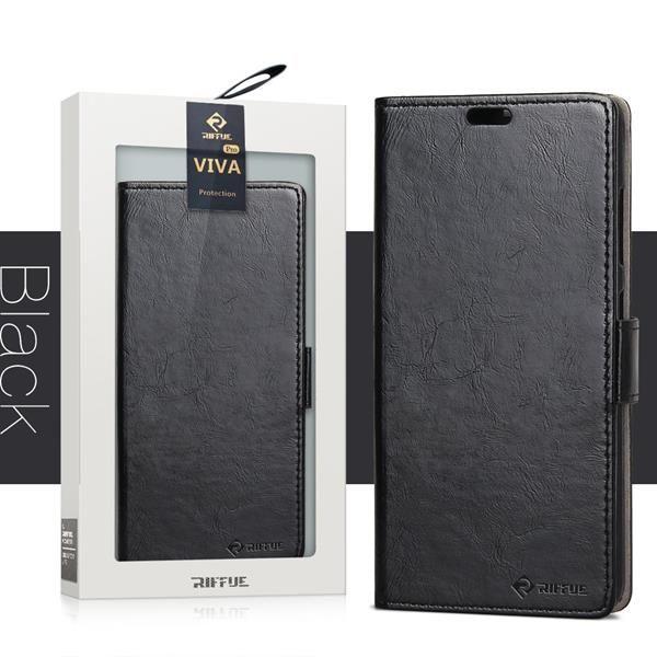 Migliori cover Motorola Moto X4: Custodia Riffue a libro in silicone sottile