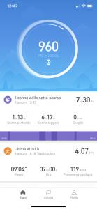 amazfit bip - app pagina princiaple