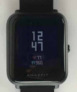 amazfit bip - display