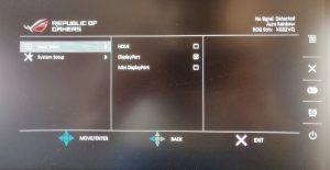 Asus ROG Strix XG32VQ pannello osd