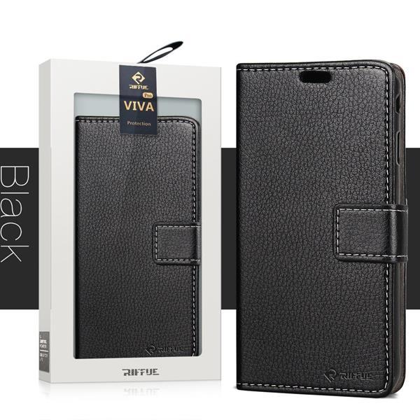 Migliori cover Xiaomi Redmi Note 5: Custodia Riffue a libro con copertura morbida e sottile