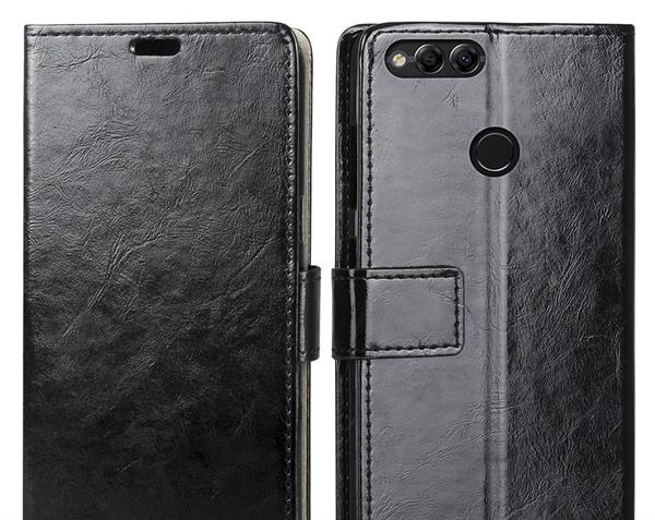 Migliori cover Honor 7x: Custodia Riffue in pelle