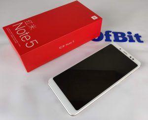Xiaomi Redmi Note 5 fronte