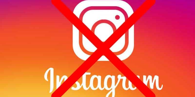 come eliminare un account instagram