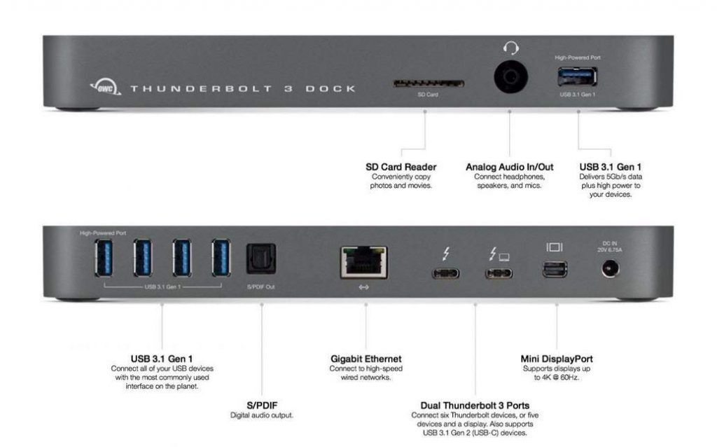 migliori dock per macbook pro - OWC Thunderbolt 3 Dock