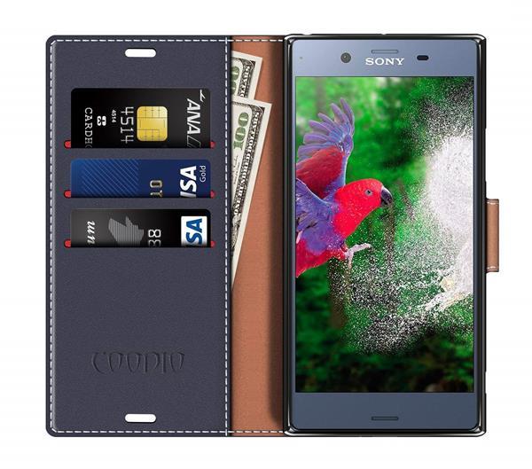 Migliori cover Sony Xperia XZ1: Custodia Coodio a portafoglio