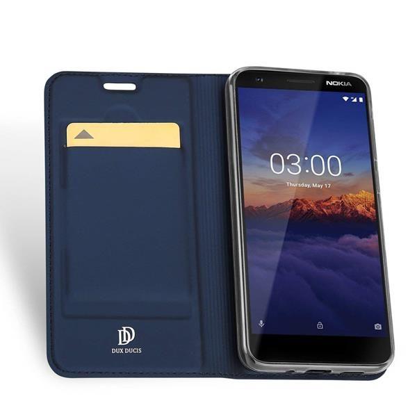 Migliori cover Nokia 3.1: Custodia Dux Ducis con slot per carte magnetiche