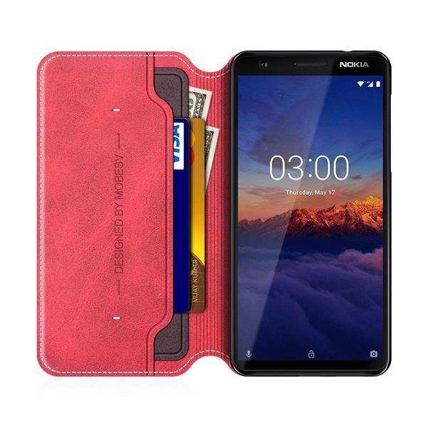 Migliori cover Nokia 3.1: Custodia Mobesv in pelle a portafoglio