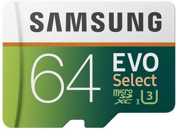 Migliori schede Micro SD per Samsung Galaxy Note 9: Samsung MB-ME64GA-EU EVO Select da 64GB