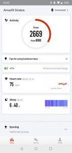 Amazfit Stratos - app riepilogo