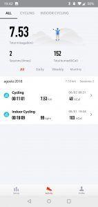 Amazfit Stratos - app sessioni