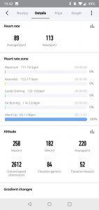 Amazfit Stratos - app allenamento