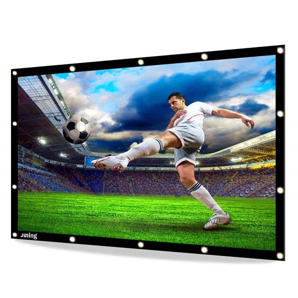 Migliori teli per vedere film e TV a casa: Telo Juning pieghevole in PVC a proiezione semplice