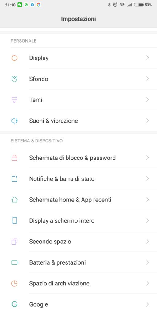 sblocco con il volto xiaomi - passaggio 4 - schermata di sblocco e password