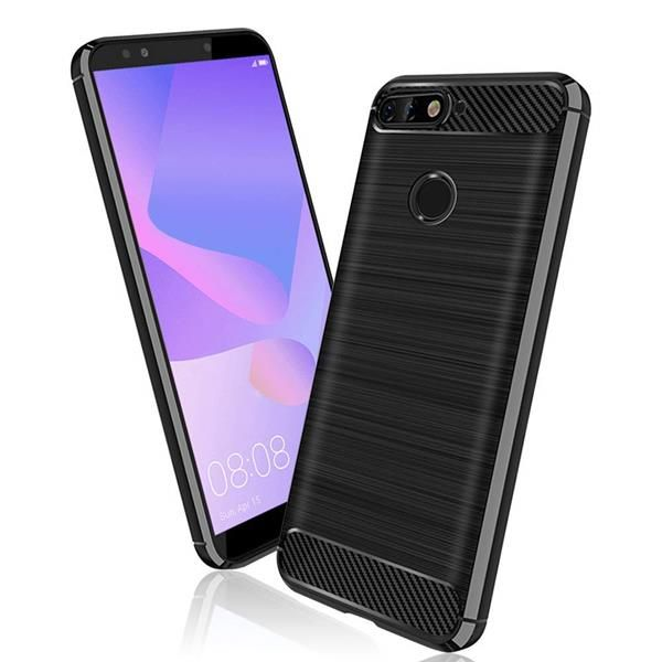 Migliori cover Huawei Y6: Custodia SDTEK in carbonio e silicone