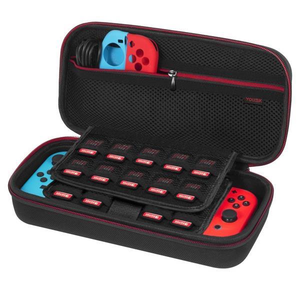 Migliori accessori Nintendo Switch: Custodia Younik con slot per 19 cartucce