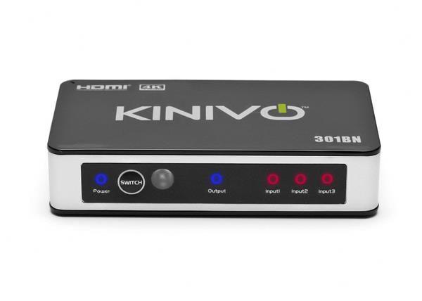 Migliori switch HDMI: Kinivo 301BN con telecomando a infrarossi