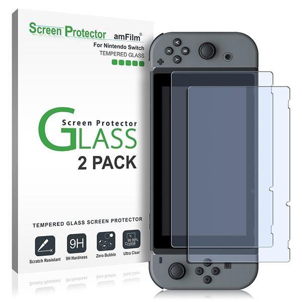 Migliori accessori Nintendo Switch: Pellicola protettiva amFilm in vetro temperato