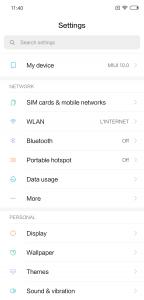 Recensione Xiaomi Mi 8 miui 10 impostazioni