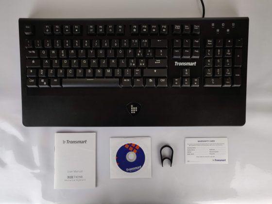 Tastiera Meccanica Gaming Tronsmart TK09R - contenuto
