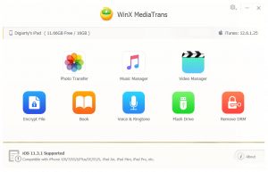 WinX MediaTrans alternativa ad itunes per iphone